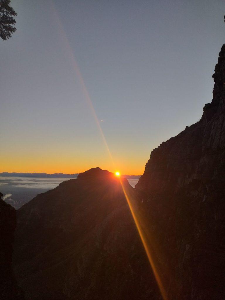 randonnée lever soleil Table Mountain