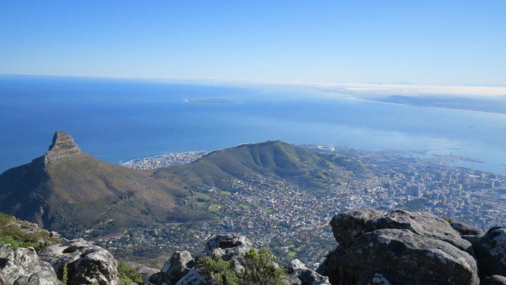 vue depuis Table Mountain