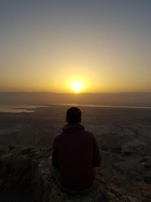 vue lever de soleil Masada National Park